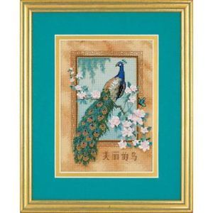 Dimensions Cross Stitch Kit Beautiful Bird Peacock