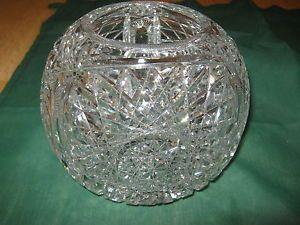 American Brilliant Vintage Cut Glass Crystal Round Bowl
