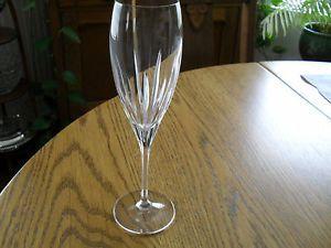 Schott Cristal Champagne Flute Glass Fine Crystal Stemware Germany Gala Pattern