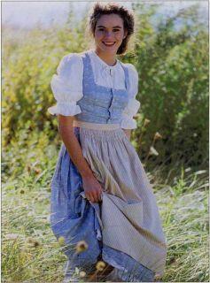 Folkwear Austrian Dirndl Dress Blouse Apron Sewing Pattern 123 German Swiss