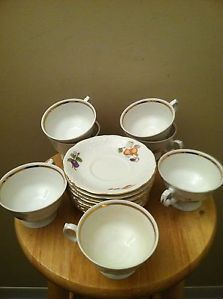 Royal Kents Collection Poland Tea Cups and Saucers