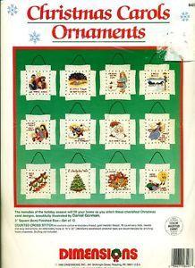 "Dimensions ""Christmas Carols Ornaments"" Music Songs Cross Stitch Kit New"
