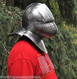 United Cutlery Medieval Reproduction Replica Steel Pig Face Knights Armor Helmet