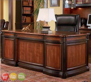 Details about 3 Piece Executive Desk, Bookcase & File Cabinet Two Tone