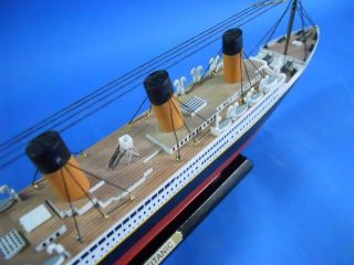 "RMS Titanic Limited 15"" Wooden Model Cruise SHIP Titanic SHIP Replica"