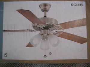 Hampton bay 52 inch brushed nickel brookhurst ceiling fan frost hampton bay 52 inch brushed nickel brookhurst ceiling fan frost glass rev blades aloadofball Choice Image