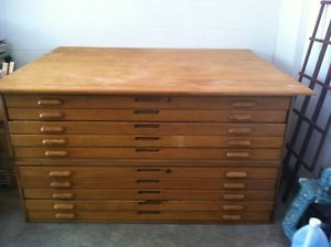 5 file drawer wood blueprint map drafting cabinet wood flat file blueprint map cabinet drawers malvernweather Gallery