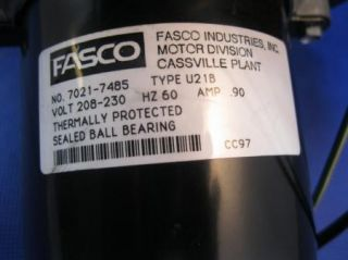 Fasco Inducer Motor 7021 7485 and Blower Fan
