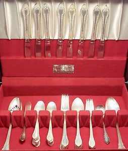 1847 Rogers Bros Silver Plate Flatware Set Remembrance