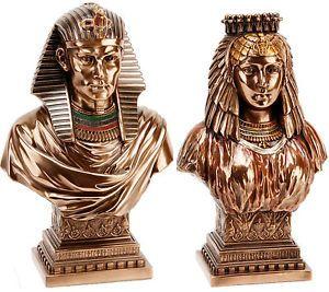 Egyptian Figurines Juliana Bronze Coated Nefertiti Bust Collectable Ornament