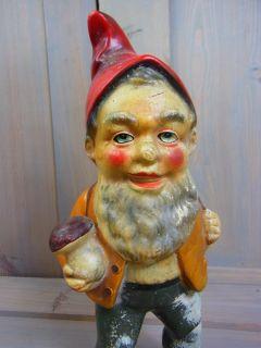 GN15 Gorgeous Garden Gnome Dwarf Figure Statue Antique German 1950 1960´S