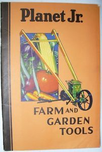 Vintage Planet Jr Farm Garden Tools Catalog Junior Seed Plow Cultivator Planters
