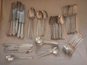 80 Pieces 1847 Rogers Bros Silver Plate Silverware Flatware Lot Matching Set