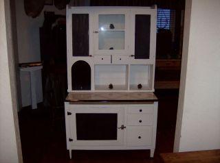 Antique Hoosier Cabinet Vintage Kitchen Furniture