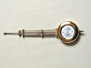 Antique German Wall Clock Pendulum