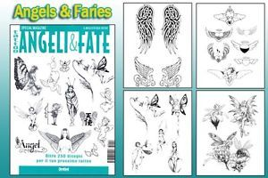 Angels Faries Tattoo Flash Design Book 64 Pages Cursive Writing Art Supply