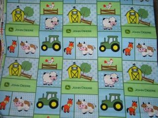 New John Deere Kids Nursery Baby Bedding Set Crib Sheet Barnyard Animals
