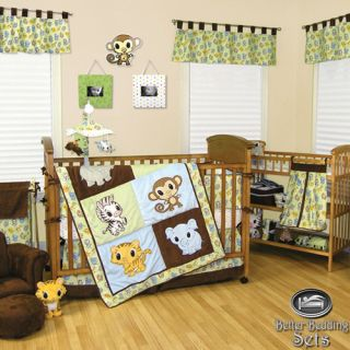 Trend Lab Baby Boy Girl Giraffe Animal Print Crib Nursery Bedding Quilt Bed Set