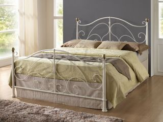 Milano Cream Antique Brass King Size App 5ft 150cm Metal Bed Frame