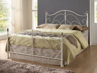 Milano Cream Antique Brass King Size App 5ft 150cm Metal Bed Frame