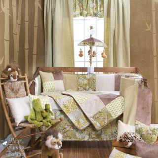 Glenna Jean Baby Boy Girl Neutral Safari Jungle Crib Nursery Bedding Quilt Set