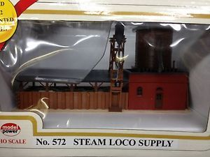 Model Power HO Scale Train Set Building 572 Steam Loco Supply