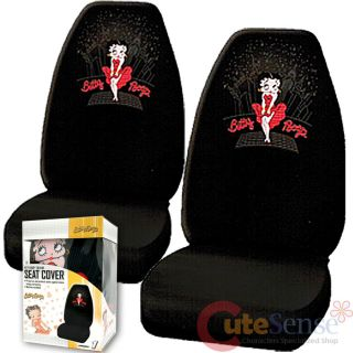 Betty Boop Car Seat Cover Auto Accessories Set 2pc Front Sky Line
