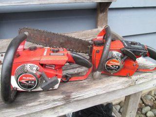 2 Homelite Super E Z Chainsaws