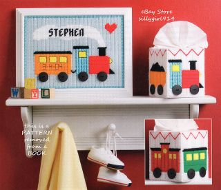 """Welcome Baby Train Set"" Plastic Canvas Pattern Only"