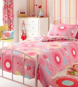 Sale Girls Bedding Pink Floral Single Duvet Cover Set