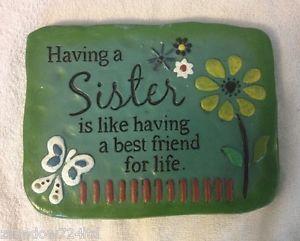Sister Best Friend for Life Garden Steppingstone Stepping Stone New