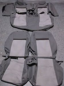 New Seat Covers Toyota Camry 2012 Gray and Silver Original Toyota Cloth
