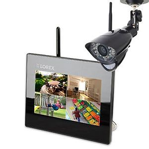 New Lorex Wireless Monitoring Security System w 7 inch LCD Monitor 1 Camera