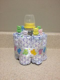 Mini Diaper Cake Baby Shower Gift Boy Girl Center Piece