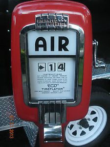 Vintage Original Eco Air Meter Tireflator Pedastal Gas Pump Gas Station
