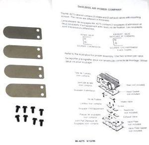 DeVilbiss Air Compressor Pump Reed Valve Kit KK 4275 Sear Craftsman