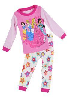 """Children Baby Toddler Kid Girls Sleepwear """"Princess' Cute Pajamas Set 2 7T"""