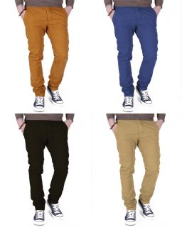 Soul Star Mens Chinos Canvas Slim Skinny Fit Chino Pants Trousers Straight Jeans