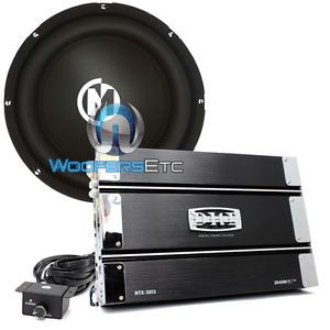 "Pkg Memphis SR10S4 10"" Subwoofer Speaker DHD NTX 3015 Bass 2 Channel Amplifier"