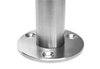 Stainless Steel Railing Round Post Square Clamps 180°