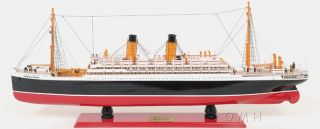 "RMS Empress of Ireland Ocean Liner 32"" Wooden Model Canada Cruise SHIP New"