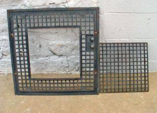 """Antique Cast Iron Floor Furnace Grate 24 1 4"""" Square Payne Supply Los Angeles"""