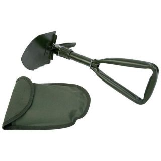 Compact Folding Shovel Pick Camping Tool Hiking Garden Survival Military w Case
