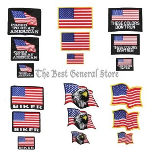 American Flag Biker Patches