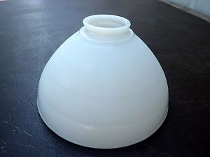 """Vtg Mid Century 10"""" Milk Glass Lamp Shade Globe Diffuser Torchiere Replacement"""