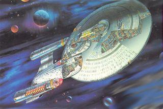 Star Trek Next Gen Enterprise Cut Away Poster Set of 2