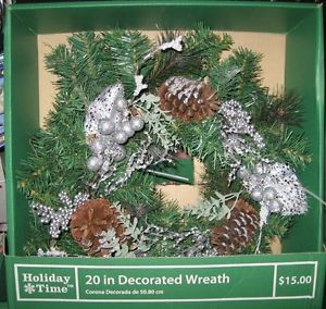 Christmas Decoration Pine Cone Wreath Ornament Door Decor