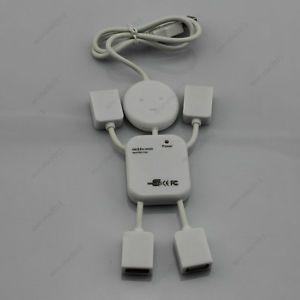 Cute Doll 4 Port Way USB Multi Bus Powered Hub USB Extension Lead High Speed