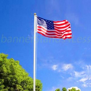 16ft Sectional Aluminum Flagpole US American USA Flag Pole Gold Ball Outdoor Kit