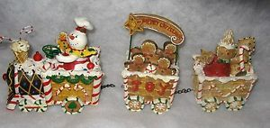 Gingerbread Express Train Resin Christmas Holiday Home Decor Gently Used